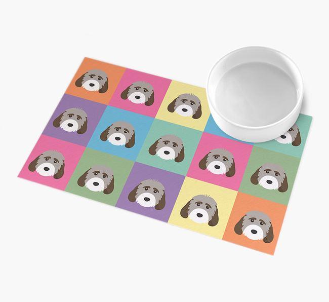 Personalied Icon Pattern- Personalised Cockapoo Feeding Mat
