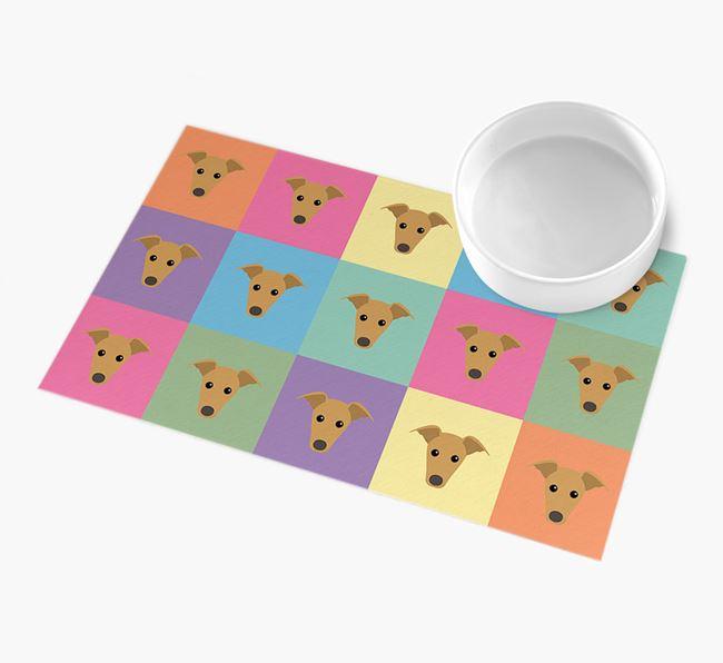 Personalied Icon Pattern- Personalised Greyhound Feeding Mat