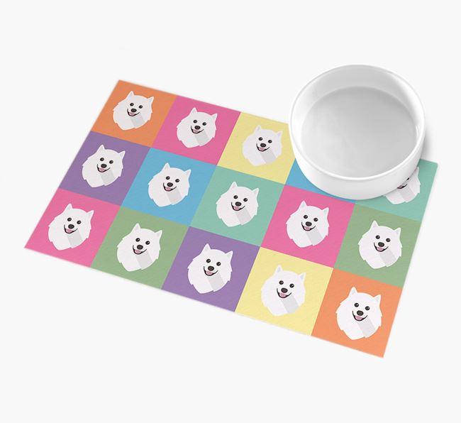 Personalied Icon Pattern- Personalised Pomeranian Feeding Mat