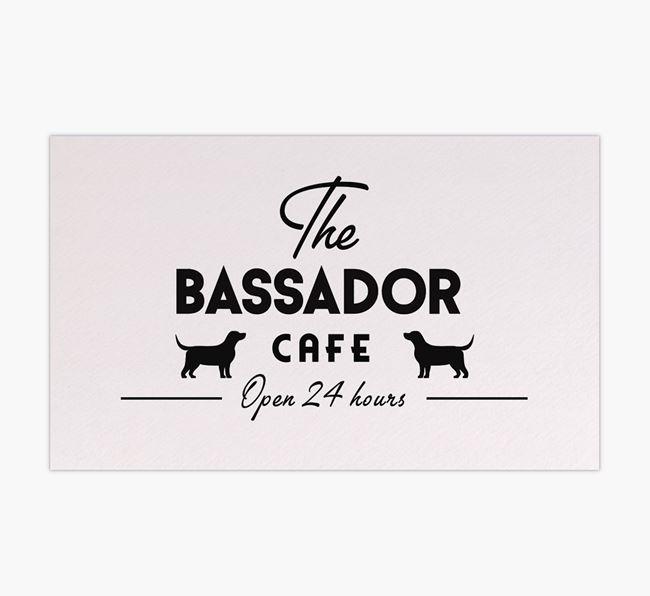 'The Bassador Cafe' - Personalised Bassador Feeding Mat