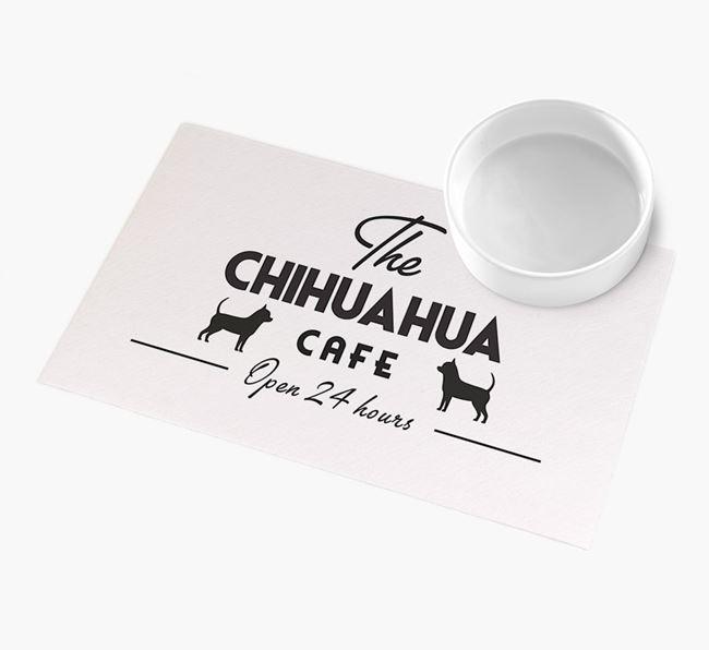 'The Chihuahua Cafe' - Personalised Chihuahua Feeding Mat