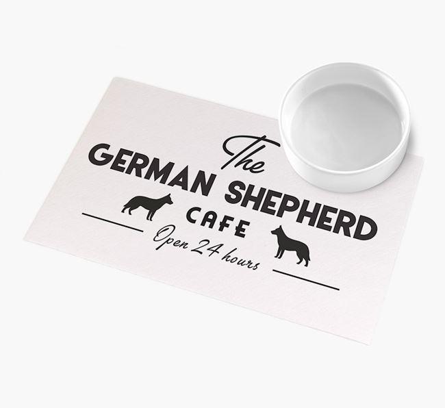 'The German Shepherd Cafe' - Personalised German Shepherd Feeding Mat