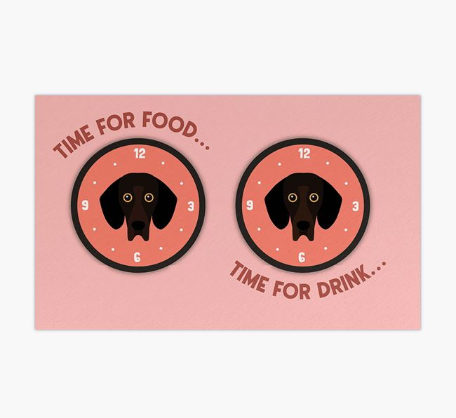 'Time For...' - Personalised Bassador Feeing Mat