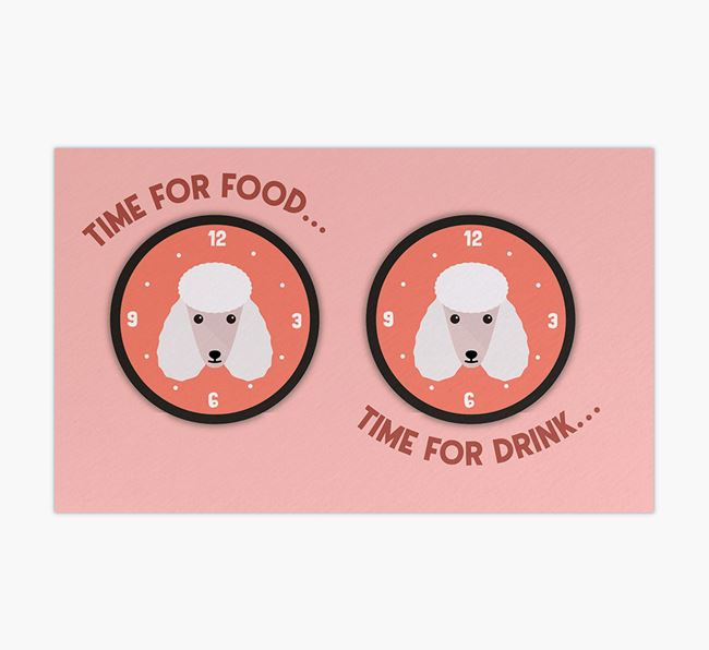 'Time For...' - Personalised Poodle Feeing Mat