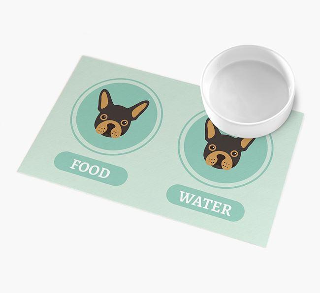 'Yappicons' - Personalised French Bulldog Feeding Mat