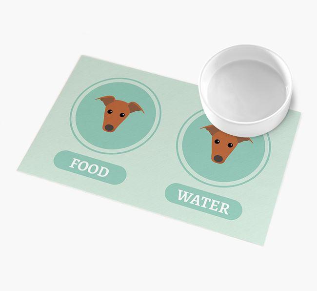 'Yappicons' - Personalised Greyhound Feeding Mat