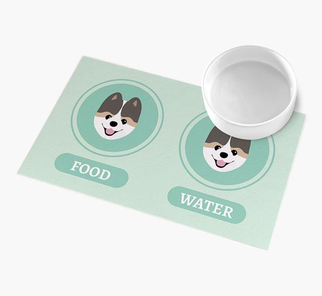 'Yappicons' - Personalised Pomeranian Feeding Mat