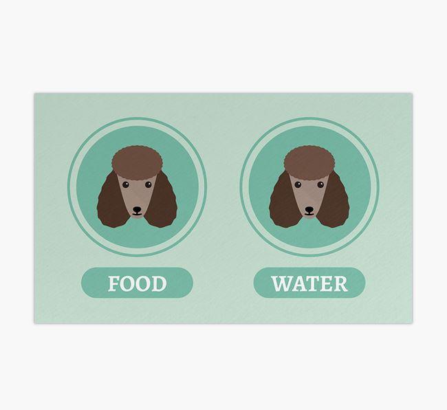 'Yappicons' - Personalised Poodle Feeding Mat