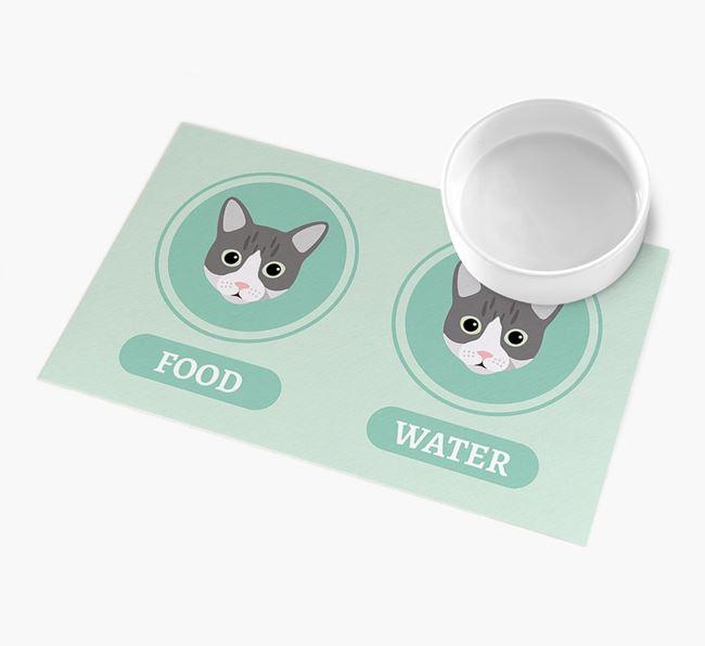 'Yappicons' - Personalised Cat Feeding Mat