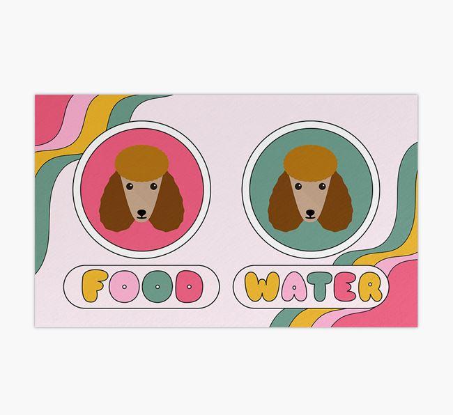 'Rainbow Icons' - Personalised Poodle Feeding Mat