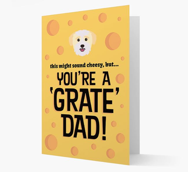 'You're A 'Grate' Dad!' - Personalized Bichon Yorkie Card