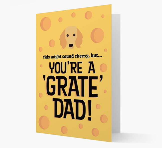 'You're A 'Grate' Dad!' - Personalized Dachshund Card