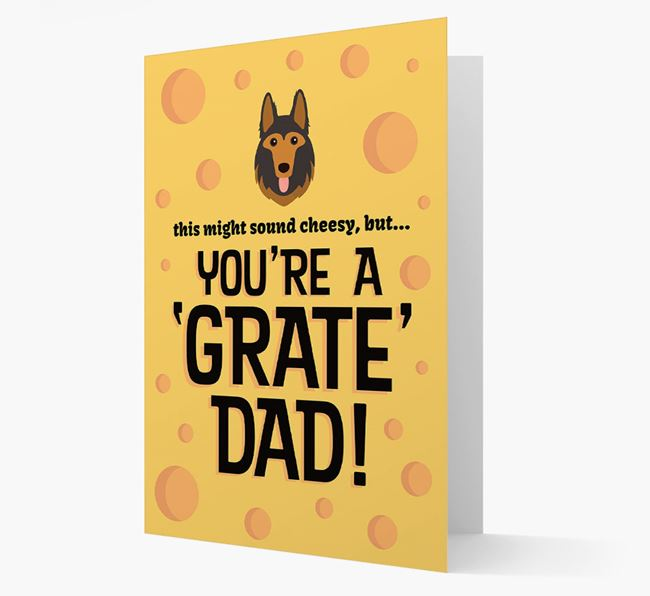 'You're A 'Grate' Dad!' - Personalized German Shepherd Card