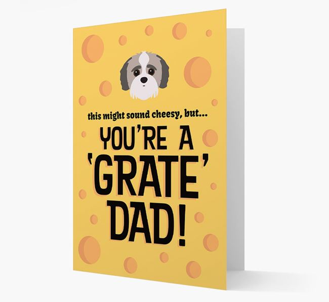 'You're A 'Grate' Dad!' - Personalized Jack-A-Poo Card