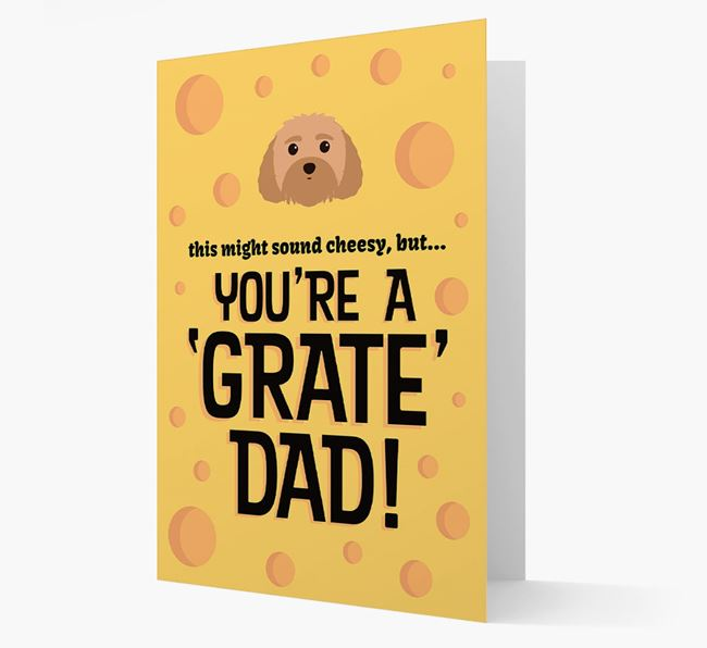 'You're A 'Grate' Dad!' - Personalised Dog Card