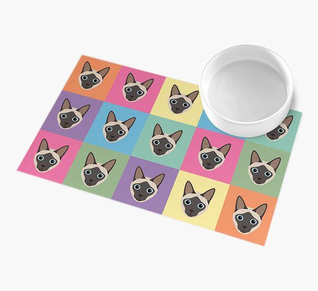 Personalised Icon Pattern - Personalised Siamese Feeding Mat
