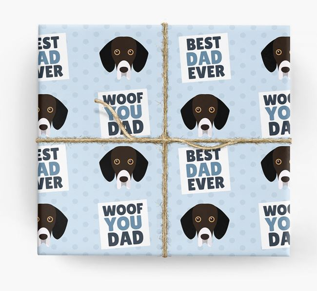 'Woof You Dad' - Personalized Bassador Wrapping Paper