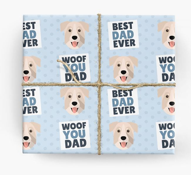 'Woof You Dad' - Personalized Chinook Wrapping Paper