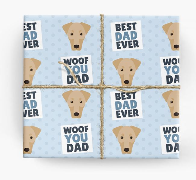 'Woof You Dad' - Personalized Dobermann Wrapping Paper