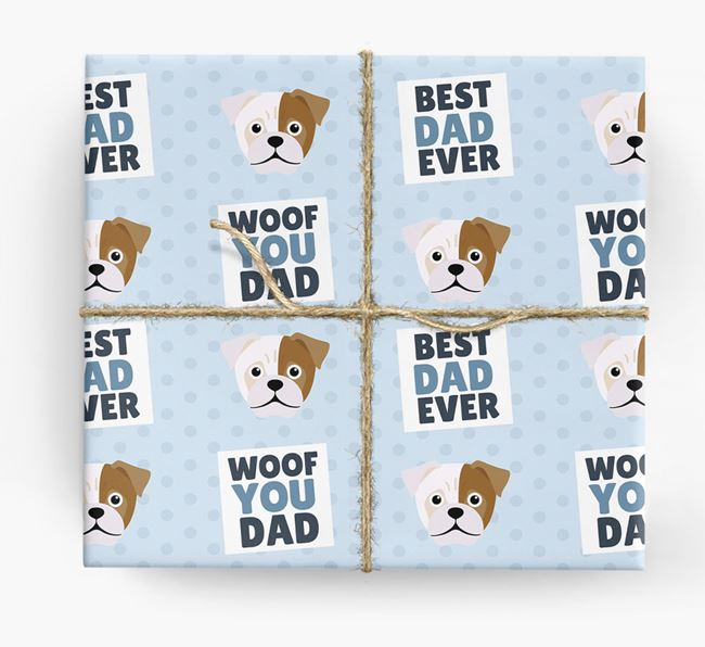'Woof You Dad' - Personalized Jug Wrapping Paper