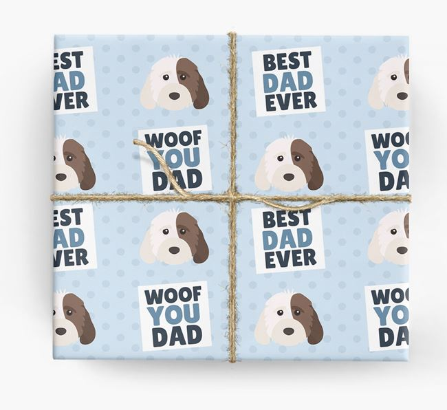 'Woof You Dad' - Personalized Rescue Dog Wrapping Paper