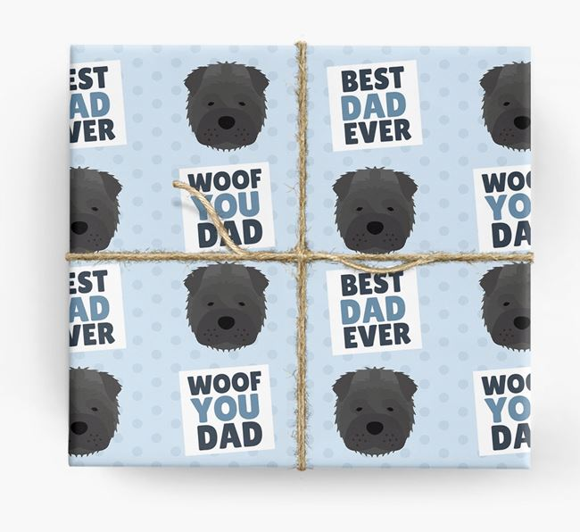 'Woof You Dad' - Personalized Shar Pei Wrapping Paper