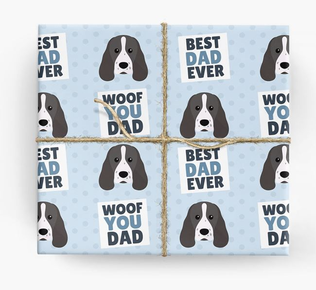 'Woof You Dad' - Personalized Sprocker Wrapping Paper