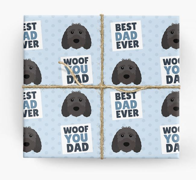 'Woof You Dad' - Personalized Sproodle Wrapping Paper