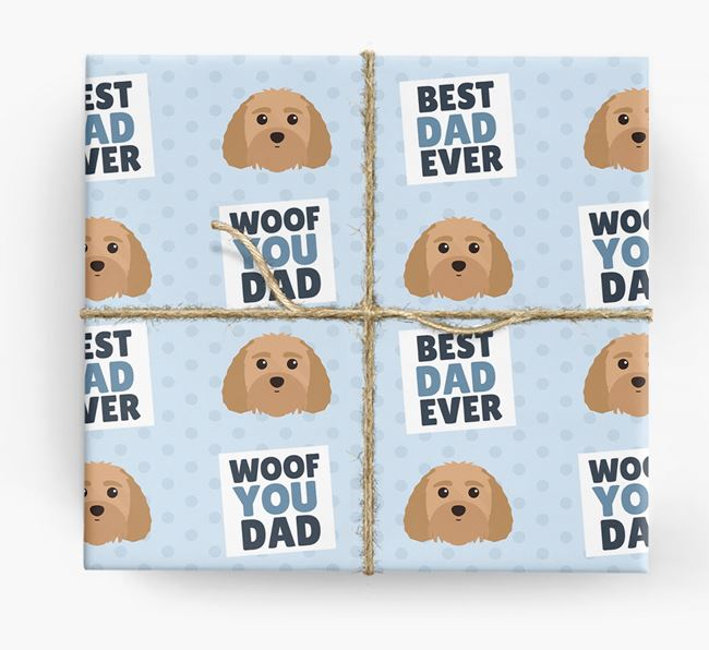 'Woof You Dad' - Personalized Terri-Poo Wrapping Paper