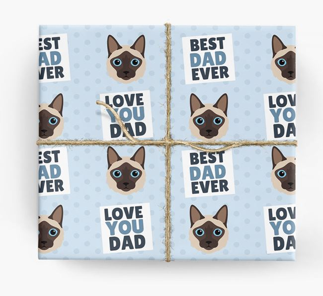 'Love You Dad' - Personalized Balinese Wrapping Paper