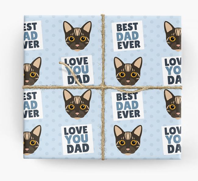 'Love You Dad' - Personalized Bengal Wrapping Paper