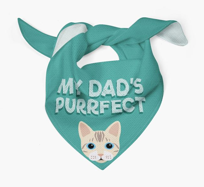'My Dad is Purrfect' - Personalised Bengal Bandana