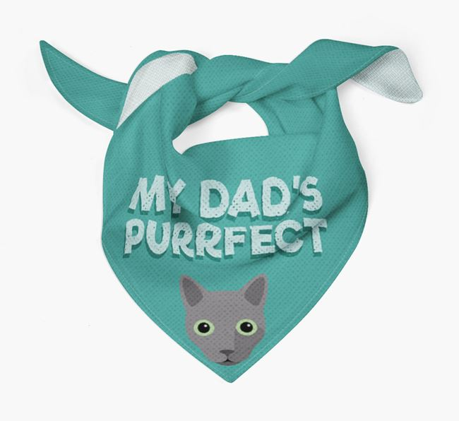 'My Dad is Purrfect' - Personalized Cat Bandana