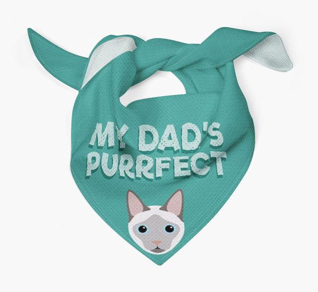 'My Dad is Purrfect' - Personalized Siamese Bandana