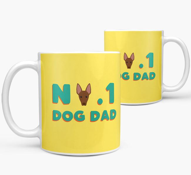 'No. 1 Dog Dad' - Personalized American Hairless Terrier Mug