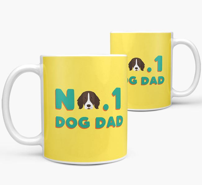 'No. 1 Dog Dad' - Personalized German Longhaired Pointer Mug