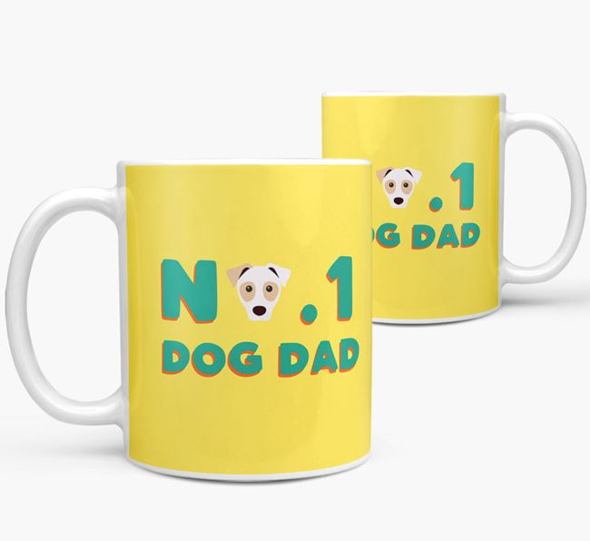 'No. 1 Dog Dad' - Personalized Parson Russell Terrier Mug