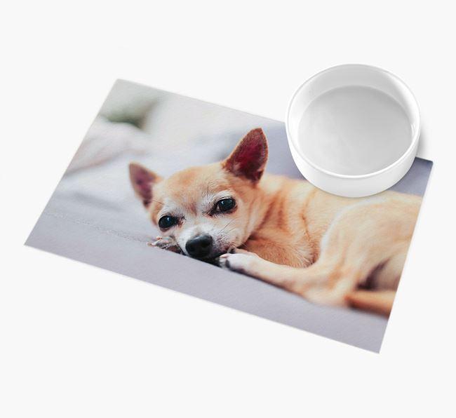 Full Photo Upload - Personalised Chihuahua Feeding Mat