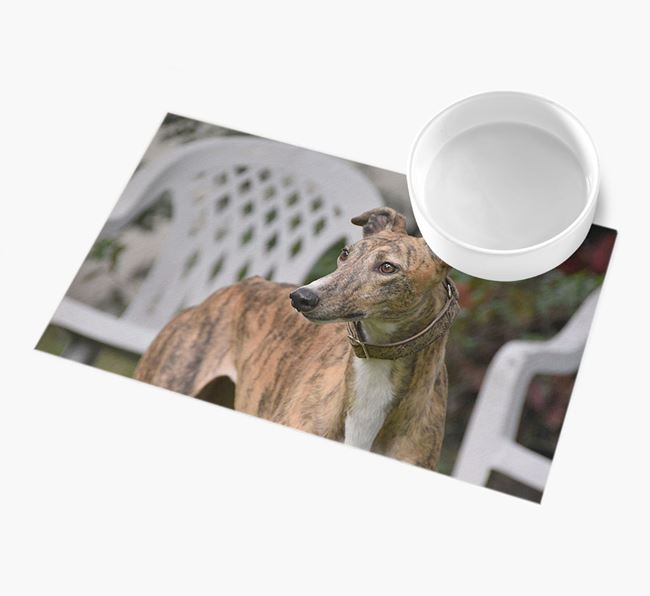 Full Photo Upload - Personalised Greyhound Feeding Mat