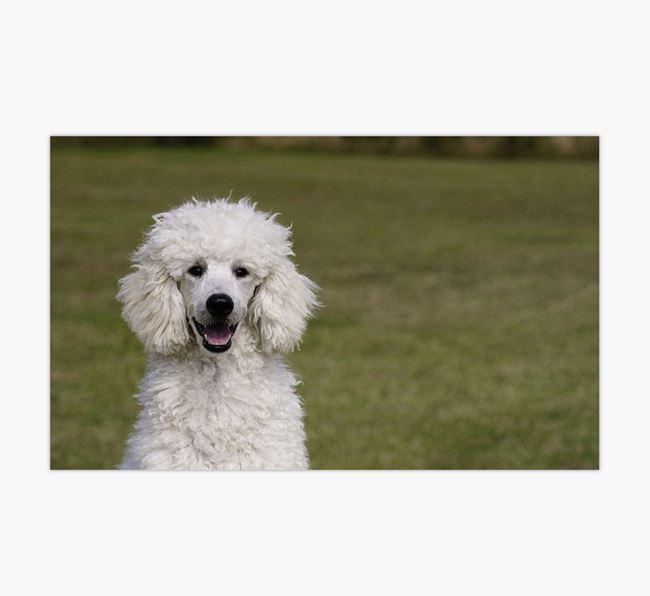 Full Photo Upload - Personalised Poodle Feeding Mat