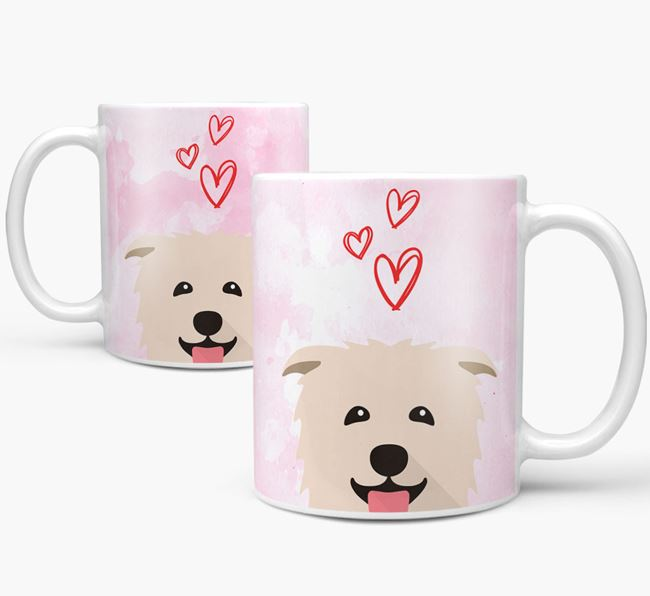 Peeking Glen Of Imaal Terrier Icon and Hearts Mug
