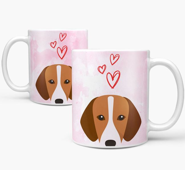 Peeking Hamiltonstovare Icon and Hearts Mug