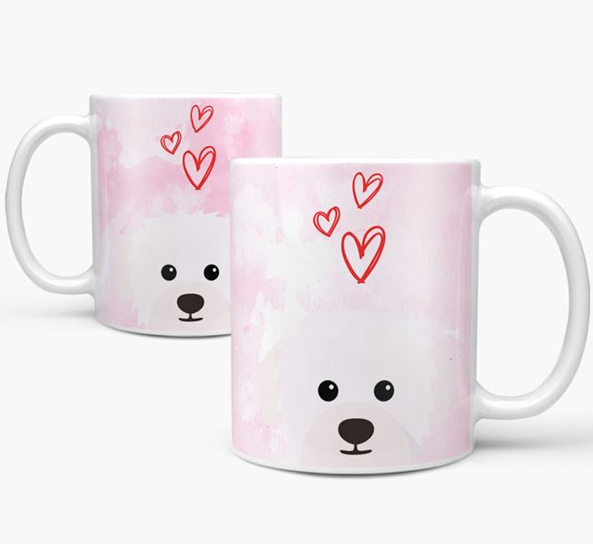 Peeking Westiepoo Icon and Hearts Mug
