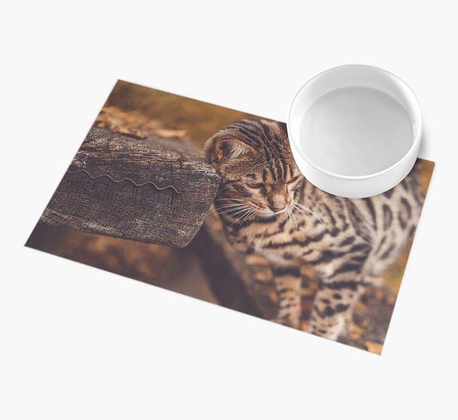 Full Photo Upload - Personalised Bengal Feeding Mat