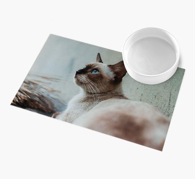 Full Photo Upload - Personalised Siamese Feeding Mat
