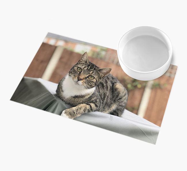 Full Photo Upload - Personalised Cat Feeding Mat