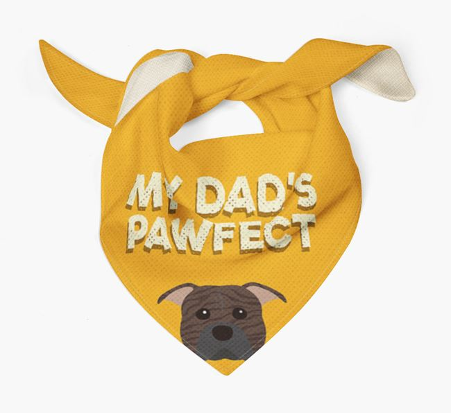 'My Dad's Pawfect' - Personalised American Pit Bull Terrier Bandana