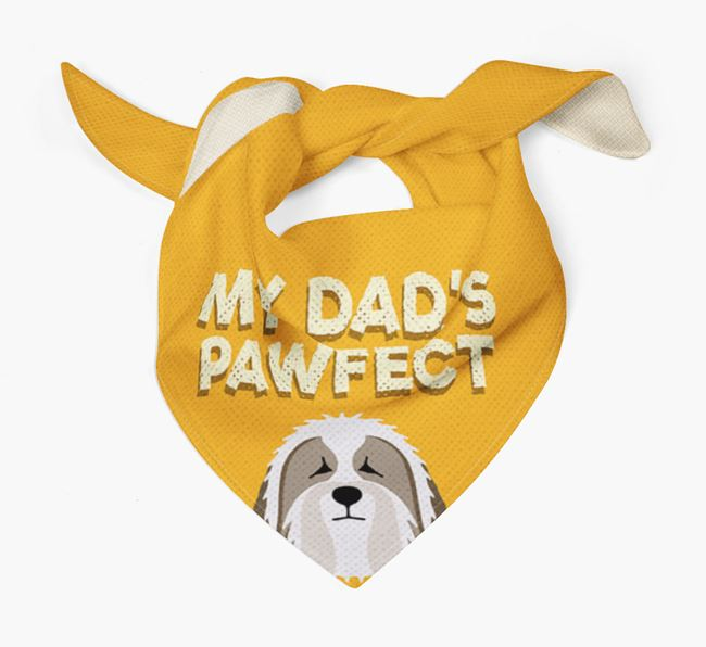 'My Dad's Pawfect' - Personalized Bearded Collie Bandana