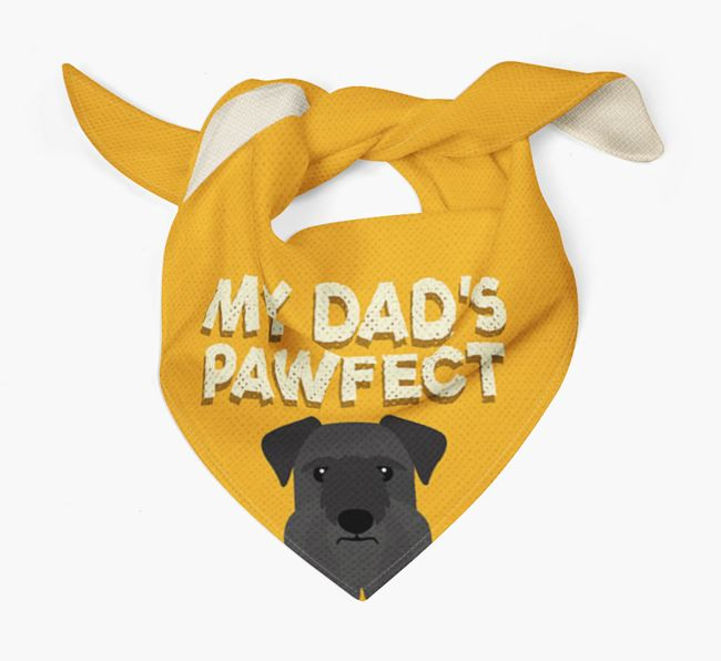 'My Dad's Pawfect' - Personalised Cesky Terrier Bandana