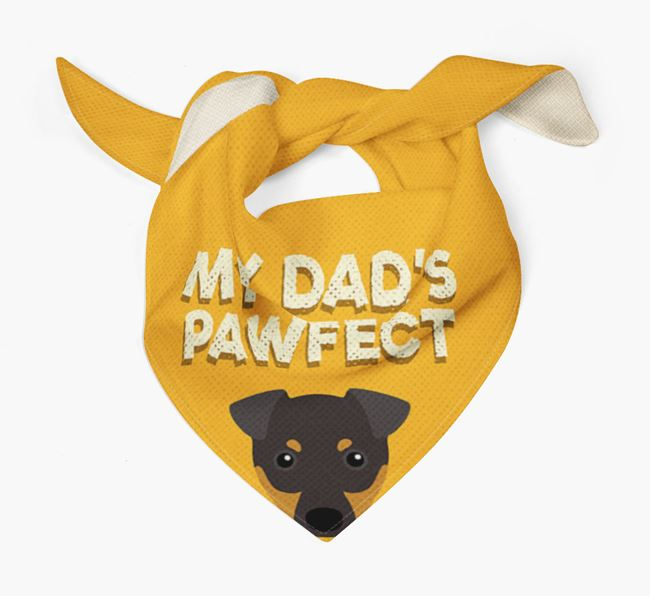 'My Dad's Pawfect' - Personalised English Toy Terrier Bandana